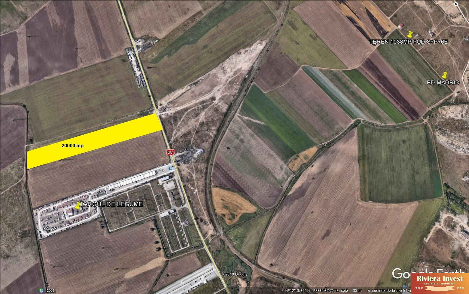 Varianta Ovidiu targul de legume ,teren 20000 mp, ideal investitie