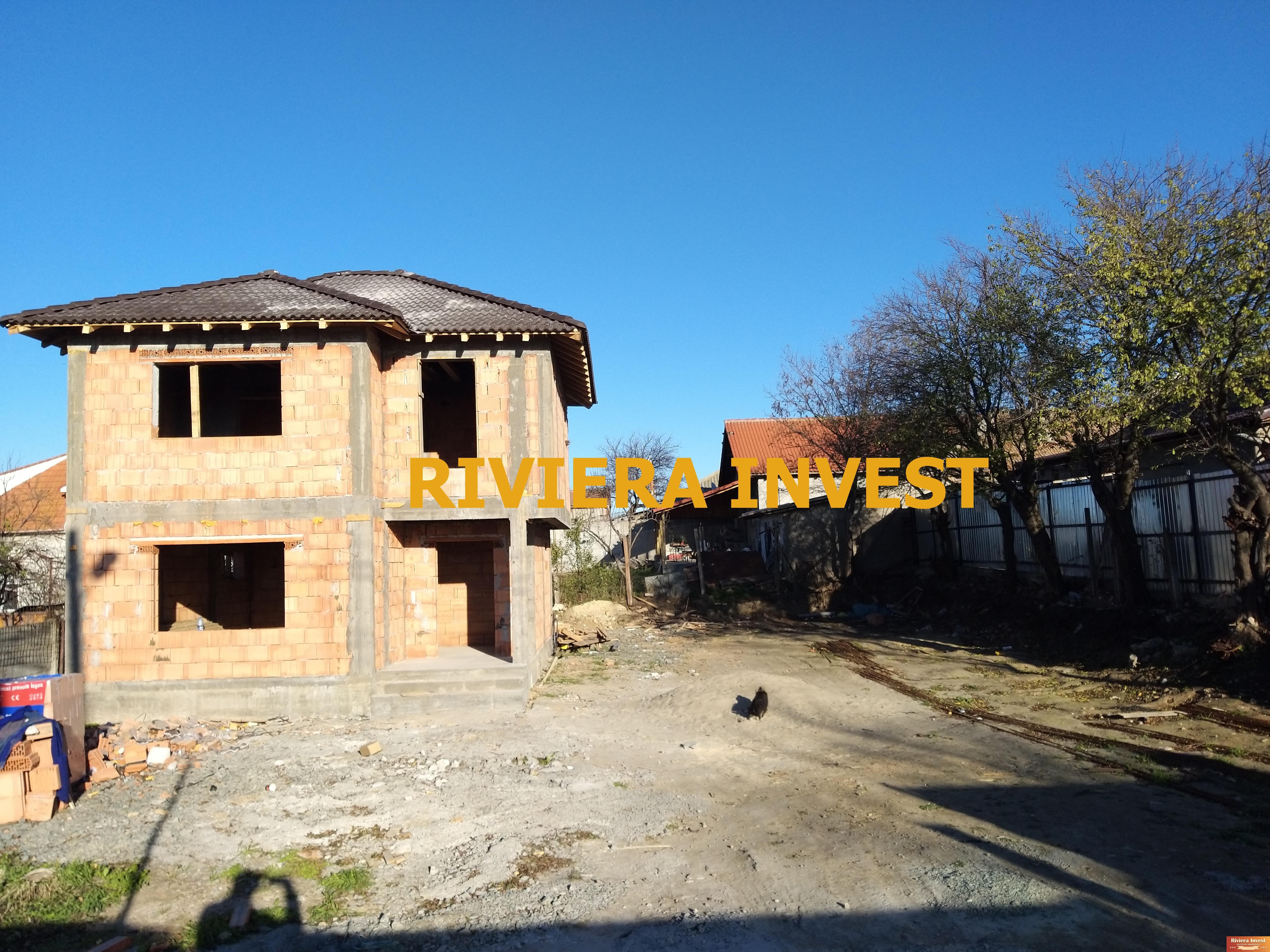 Ovidiu –Central Vila noua P+1E, 4 camere, in curs de constructie