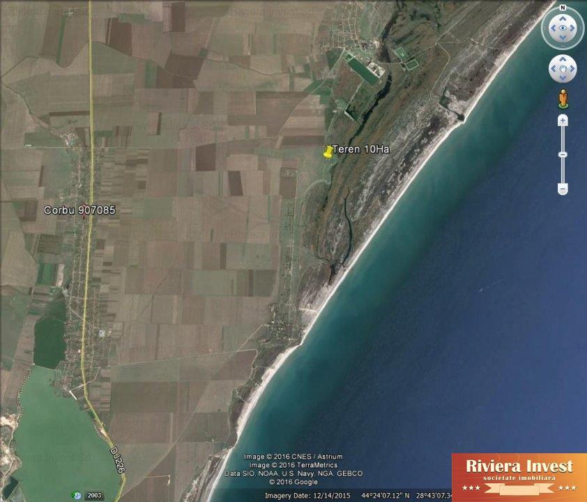 CorbuTeren 10Ha la plaja Corbual doilea lot de la mare